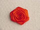 Red Rose Flower Ribbon Applique #AP-264