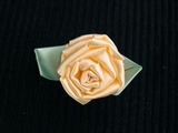 Big Flower Peach Ribbon Rosette Applique #AP-267