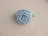 Big Flower Blue Ribbon Rosette Applique #AP-270