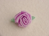Lilac Rosette Flower Ribbon Applique #AP-273