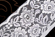"6"" White Floral Lace Trim #231"