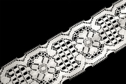 "2 1/2"" Pure White Floral Lace Trim #242"