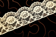 "2 1/2"" Cream Floral Lace Trim #248"