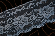 "4 1/4"" Blue Floral Lace Trim #lace-520"