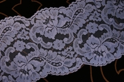 "5"" Blue Floral Lace Trim #lace-521"