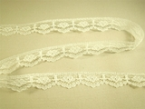 "5/8"" Off White Scalloped Floral Fine Lace Trim LT-422"