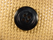 "Italian Coat Buttons Wholesale (36pcs) 1-1/8"" Mixed Dark Green & Black 4 Hole Button"