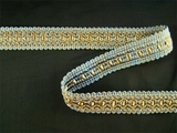 "Italian 1"" Periwinkle Blue Olive Fancy Braid Trim LT-90"