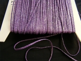 Purple Violet Silver Metallic Cord Trim