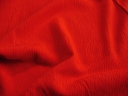 Red Crinkle Rayon Fabric