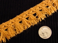 Italian Tassel Fringe Trim Made in Italy Vintage Drapery Fringe Decorative Braid Trim