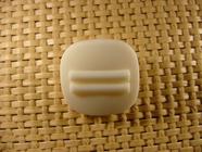 Italian Coat Buttons Wholesale (48pcs) Designer Shank Buttons 7/8 inch Off White #bag-247
