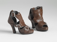 BROWN BUCKLE-UP BOOTS*