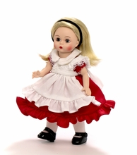 "8"" ALICE in WONDERLAND - RED DRESS*"