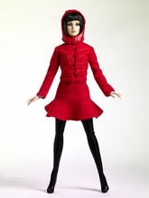 DYNAMIC RED - outfit (jacket and dress)