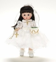"8"" MY FIRST COMMUNION - brunette"