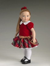 "CHRISTMAS PRETTY - outfit for 12"" doll*"