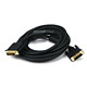 15ft 28AWG DVI-D to M1-D (P&D) Cable - Black