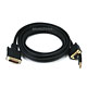 12ft 28AWG VGA & USB (A Type) to M1-D (P&D) Cable - Black