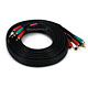 12ft 22AWG 5-RCA Component Video/Audio Coaxial Cable (RG-59/U) - Black