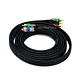 10ft 18AWG CL2 Premium 3-RCA Component Video Coaxial Cable (RG-6/U) - Black
