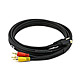 6ft S-Video|3.5mm Stereo to Composite RCA|RCA Stereo Combo 22AWG Cable (Gold Plated)
