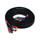 10ft 22AWG 5-RCA Component Video/Audio Coaxial Cable (RG-59/U) - Black