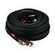 35ft 18AWG CL2 Premium 5-RCA Component Video/Audio Coaxial Cable (RG-6/U) - Black
