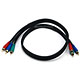 3ft 22AWG 3-RCA Component Video Coaxial Cable (RG-59/U) - Black