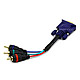 6inch VGA to 3 RCA Component Video Cable (HD15 - 3-RCA)
