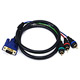 3ft VGA to 3 RCA Component Video Cable (HD15 - 3-RCA)