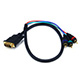 2ft DVI-I to 3 RCA Component Video Cable (DVI-I - 3-RCA)