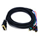 12ft DVI-I to 3 RCA Component Video Cable (DVI-I - 3-RCA)