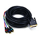 25ft DVI-I to 3 RCA Component Video Cable (DVI-I - 3-RCA)