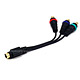 S-Video (MDIN7) to 3-RCA Component Cable for Infocus Projector