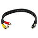 1.5ft S-Video 3.5mm Stereo to Composite RCA RCA Stereo Combo 22AWG Cable (Gold Plated)