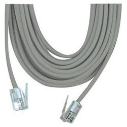 100ft rj11 telephone line cable cord wire silver