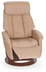 Slogan Medium Swivel Comfort Recliner Leather