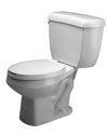 Zurn Z5575-1.6 gpf Pressure Assist, Round Front, Two-Piece Toilet
