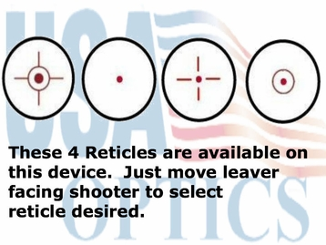 NC Star D4B, 4 Reticles in RED
