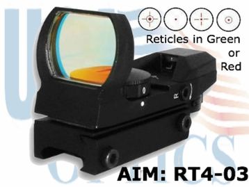 (SPEC) AIM RED / GREEN 4 RETICLE SIGHT