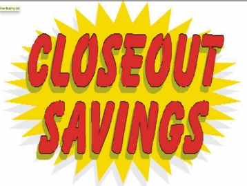 Closeout Savings