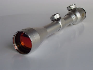 3-9x40 Illuminated Silver Rifle Scope (SEFS3940R)