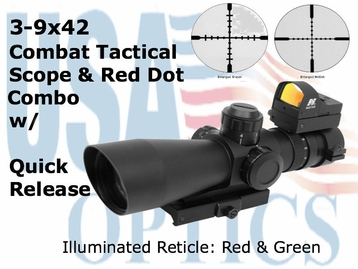 3-9X42 Scope w/ Red Dot