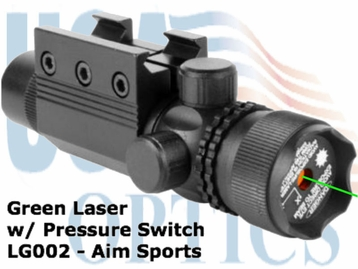 AIMSPORTS TACTICAL GREEN LASER SIGHT W/PRESSURE PAD
