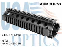 AR Mid Length, 2 PC, Quad Rail