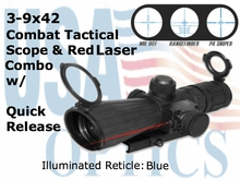 Rubberized 3-9X42 Compact Mark III Tactical Scope