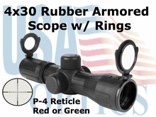 4x30mm Rubber Armored Mini-14 Scope with Mount
