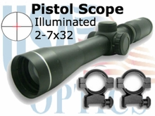 2-7X32 PISTOL SCOPE, ILL, BLACK