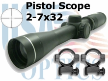 2-7x32 Pistol Scope, Black, Nc Star